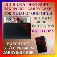 ACM-RICH LEATHER SOFT CARRY CASE XOLO Q1000 OPUS MOBILE HANDPOUCH COVER PROTECT