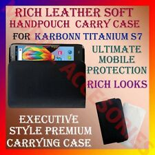 ACM-RICH LEATHER SOFT CARRY CASE for KARBONN TITANIUM S7 MOBILE HANDPOUCH COVER