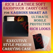 ACM-RICH LEATHER SOFT CARRY CASE for KARBONN SMART A8 MOBILE HANDPOUCH COVER NEW