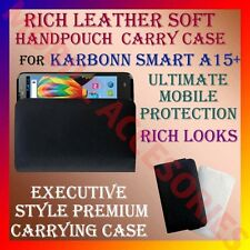 ACM-RICH LEATHER SOFT CARRY CASE for KARBONN SMART A15+ MOBILE HANDPOUCH COVER
