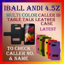 ACM-CALLER ID MULTI-COLOR TABLE TALK CASE for IBALL ANDI 4.5Z FLIP FLAP COVER