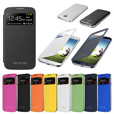 STYLISH SLIM S-VIEW FLIP CASE BATTERY COVER FOR SAMSUNG GALAXY S4 and S4 MINI