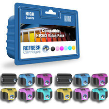 12 COMPATIBLE HP 363 HIGH CAPACITY PHOTOSMART PRINTER INK CARTRIDGES 2 FULL SETS