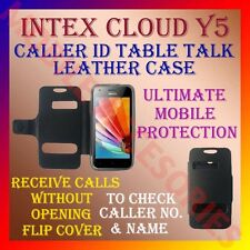 ACM-CALLER ID TABLE TALK CASE for INTEX CLOUD Y5 MOBILE FLIP FRONT & BACK COVER