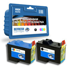 REFRESH CARTRIDGES 7Y743 / 7Y745 TWINPACK INK COMPATIBLE WITH DELL PRINTERS