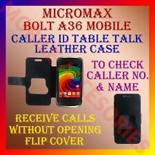 ACM-CALLER ID TABLE TALK CASE for MICROMAX BOLT A36 MOBILE FLIP COVER POUCH