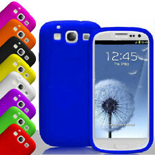 PLAIN SOFT SILICONE GEL RUBBER SKIN CASE COVER  FOR SAMSUNG GALAXY S3 SIII I9300