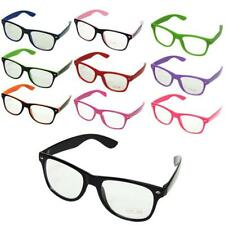 WAYFARER GLASSES CLEAR LENS GEEK NERD RETRO VINTAGE PARTY TRENDY SUNGLASSES UK