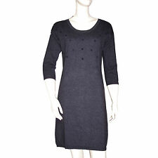 I.CODE by IKKS robe lainage grise à pois dress taille S 34 - 36 taille française