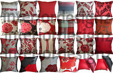 NEW Red Collection Various Beautiful Designs Luxury Quality Cushion Covers