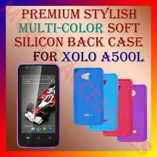 ACM-PREMIUM MULTI-COLOR SOFT SILICON BACK CASE for XOLO A500L MOBILE COVER NEW