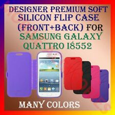 ACM-DESIGNER PREMIUM SILICON SOFT FLIP CASE for SAMSUNG QUATTRO I8552 COVER NEW