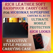 ACM-RICH LEATHER SOFT CASE for MICROMAX SUPERFONE CANVAS XL A119 HANDPOUCH COVER