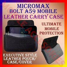 ACM-HORIZONTAL LEATHER CARRY CASE for MICROMAX BOLT A59 MOBILE POUCH COVER CASE
