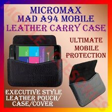 ACM-HORIZONTAL LEATHER CARRY CASE for MICROMAX MAD A94 MOBILE POUCH COVER HOLDER