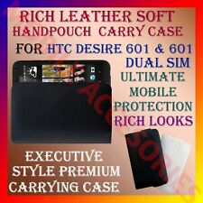 ACM-RICH LEATHER SOFT CARRY CASE for HTC DESIRE 601 & 601 DUAL SIM HANDPOUCH NEW