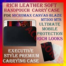 ACM-RICH LEATHER SOFT CARRY CASE for MICROMAX CANVAS BLAZE MT500 MTS POUCH COVER