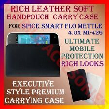 ACM-RICH LEATHER SOFT CASE for SPICE SMART FLO METTLE 4.0X MI-426 COVER POUCH
