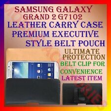 ACM-BELT CASE for SAMSUNG GALAXY GRAND 2 G7102 MOBILE LEATHER CARRY POUCH COVER