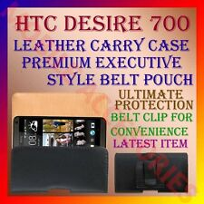ACM-BELT CASE for HTC DESIRE 700 MOBILE LEATHER CARRY POUCH PREMIUM COVER CLIP