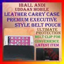 ACM-BELT CASE for IBALL ANDI UDDAAN MOBILE LEATHER CARRY POUCH COVER CLIP LATEST