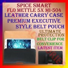 ACM-BELT CASE for SPICE SMART FLO METTLE 5X MI-504 LEATHER CARRY POUCH COVER NEW