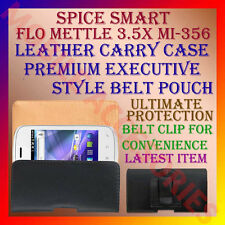 ACM-BELT CASE for SPICE SMART FLO METTLE 3.5X MI-356 LEATHER CARRY POUCH COVER