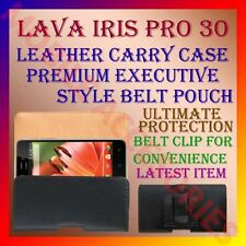 ACM-BELT CASE for LAVA IRIS PRO 30 MOBILE LEATHER CARRY POUCH PREMIUM COVER CLIP