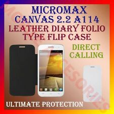 ACM-LEATHER DIARY FOLIO FLIP FLAP CASE for MICROMAX CANVAS 2.2 A114 MOBILE COVER