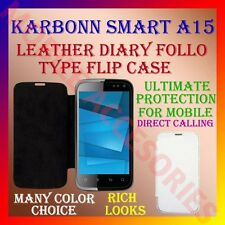 ACM-LEATHER DIARY FOLIO FLIP CASE for KARBONN SMART A15 MOBILE FRONT/BACK COVER