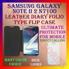 ACM-LEATHER DIARY FOLIO FLIP FLAP CASE for SAMSUNG GALAXY NOTE II 2 N7100 COVER