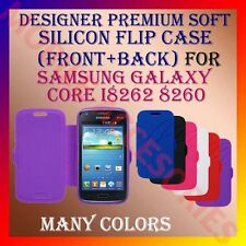 ACM-DESIGNER PREMIUM SILICON SOFT FLIP CASE for SAMSUNG CORE I8262 8260 COVER