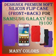 ACM-DESIGNER PREMIUM SILICON SOFT FLIP CASE for SAMSUNG S2 I9100 MOBILE COVER