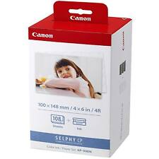 GENUINE CANON SELPHY 108 SHEETS COLOUR INK & PHOTO PAPER PACK - KP-108IN