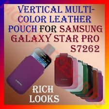 ACM-VERTICAL LEATHER CARRY CASE POUCH COVER MULTI-COLOR SAMSUNG STAR PRO S7262