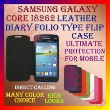 ACM-LEATHER DIARY FOLIO FLIP FLAP CASE for SAMSUNG GALAXY CORE I8262 FULL COVER