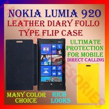 ACM-LEATHER DIARY FOLIO FLIP CASE COVER for NOKIA LUMIA 920 MOBILE FRONT & BACK