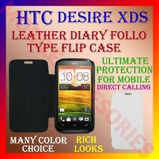 ACM-LEATHER DIARY FOLIO FLIP CASE COVER for HTC DESIRE XDS (X DUAL SIM) FLAP NEW