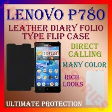 ACM-LEATHER DIARY FOLIO FLIP FLAP CASE for LENOVO P780 MOBILE FRONT & BACK COVER