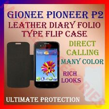 ACM-LEATHER DIARY FOLIO FLIP CASE for GIONEE PIONEER P2 MOBILE FRONT/BACK COVER