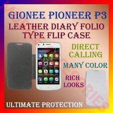 ACM-LEATHER DIARY FOLIO FLIP CASE for GIONEE PIONEER P3 MOBILE FRONT/BACK COVER