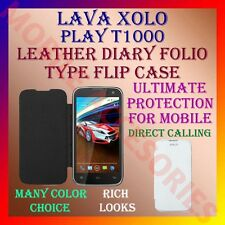 ACM-LEATHER DIARY FOLIO FLIP CASE for XOLO PLAY T1000 MOBILE FRONT & BACK COVER