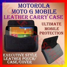 ACM-HORIZONTAL LEATHER CARRY CASE for MOTOROLA MOTO G MOBILE POUCH COVER HOLDER