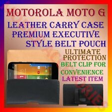 ACM-BELT CASE for MOTOROLA MOTO G MOBILE LEATHER CARRY POUCH COVER CLIP HOLDER