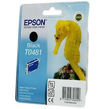 GENUINE EPSON SEA HORSE SERIES BLACK PRINTER INK CARTRIDGE T0481 (C13T04814010)