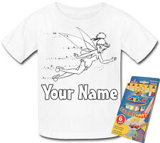 FAIRY TOOTH FAIRY PERSONALISED COLOUR IN YOUR OWN T-SHIRT  *FUN GIFT & NAMED*