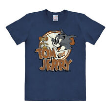 TV - Cartoon - Katze und Maus - Tom & Jerry Logo - T-Shirt, blau - LOGOSHIRT