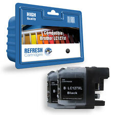 2 COMPATIBLE BROTHER MFC DCP PRINTER BLACK INK CARTRIDGES LC127XLBK