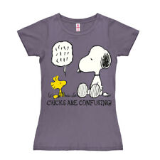 Comics: Peanuts: Hund: Snoopy Chicks Frauen - Girls - T-Shirt, lila - LOGOSHIRT