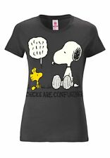 Comics - Peanuts - Snoopy & Woodstock - Chicks Frauen T-Shirt, grau - LOGOSHIRT